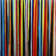 Lines II - abstract painting by Irish abstract artist Vincent Kennedy