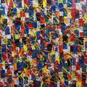 Lazy Tune - abstract painting by Irish abstract artist Vincent Kennedy