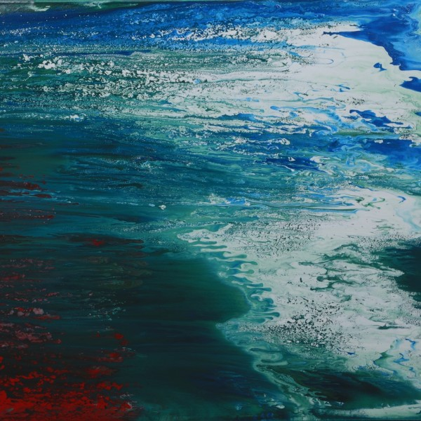 The Wave - abstract painting by Irish abstract artist Vincent Kennedy