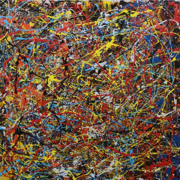 P.J.P. (Jackson Pollock) - abstract painting by Irish abstract artist Vincent Kennedy