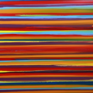 Lines I - abstract painting by Irish abstract artist Vincent Kennedy