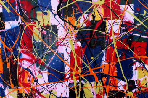 Lazy Tune - close 2 Vincent Kennedy art - abstract paint