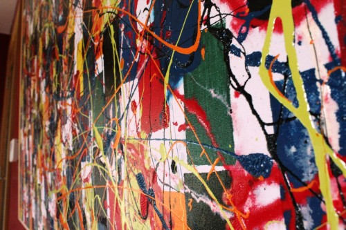 Lazy Tune - slant Vincent Kennedy art - abstract paint