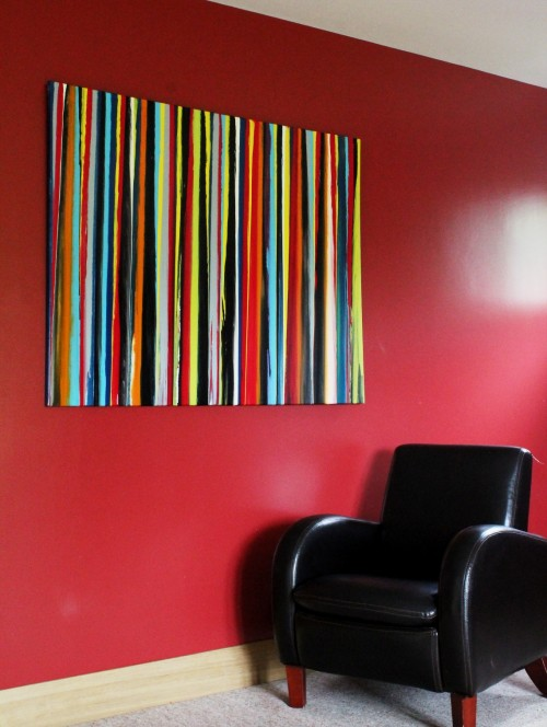Lines II - far Vincent kennedy art abstract painting