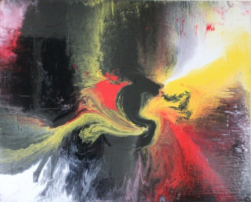 Turmoil abstract painting by Irish artist Vincent Kennedy